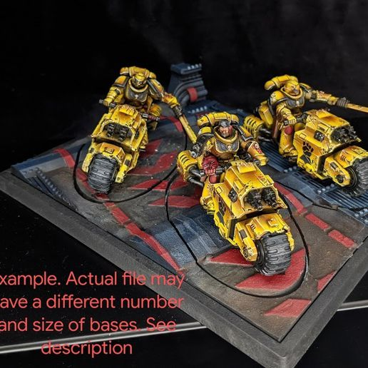IMG_20200828_224949_2.jpg Download STL file 40K INDUSTRIAL BASES - TABLEWAR MAGNETIC TRAY INSERT WITH BASES (2x60mm + 10x25mm LEFT TRAY) • Design to 3D print, Z-Axis_Hobbies