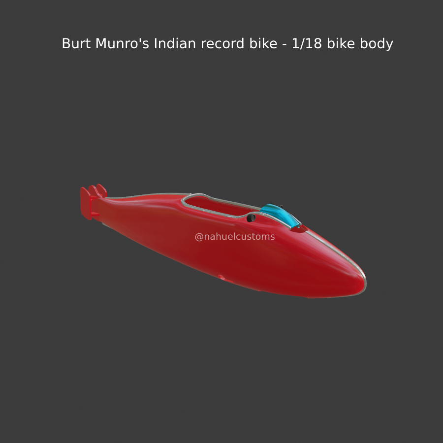New-Project-(40).png Download STL file Burt Munro's Indian record bike - 1/18 bike body • 3D printing template, ditomaso147