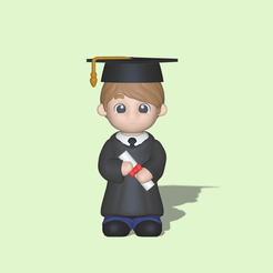 Graduate Boy1.PNG Download STL file Graduate Boy - Graduation gift • 3D printable design, usagipan3dstudios