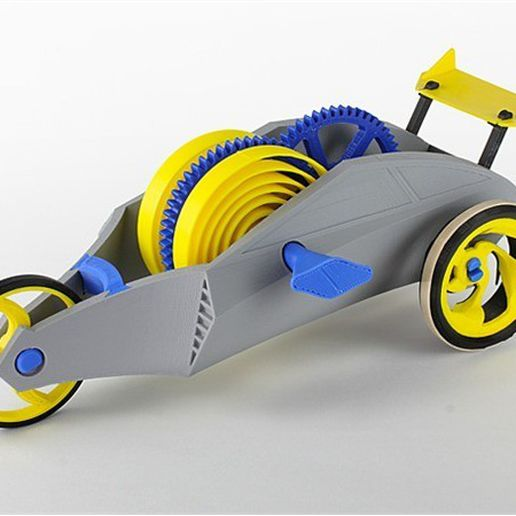 e_JQ696ILY5L.jpg Download free STL file Wind-Up Racer • 3D printing object, Dadddy