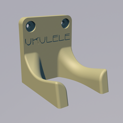 support_ukulele_with_text.png Download free STL file ukulele wall mount • 3D printing design, lenaicdupin