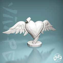 My-LoveLow-Poly-by-yiixpe.jpg Download STL file My heart of love Low Poly • 3D printing design, yiixpe