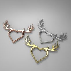 eaf2f50cbd6d0c099880ed36b4b1e0e0_display_large.jpg Download free STL file Deer Heart Necklace • 3D printable object, aevafortinhi