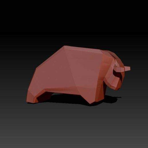 cow2.jpg Download free STL file cow • 3D printing object, HuangAro