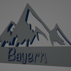 descarga - 2021-01-05T105327.917.png Download STL file Bayern Alps keychain • 3D printing object, MartinAonL