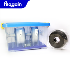 Filament Container - Cover Online 1.png Download free STL file Filagain Filament Container • Template to 3D print, Filagain