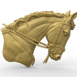 untitled.30.jpg Download free STL file Horse head bust  • 3D printing object, 3Dprintablefile