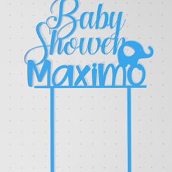 baby shower maximo.PNG Download STL file Baby shower Maximo • Design to 3D print, Lmyvgta