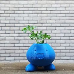 1.jpg Download free STL file Oddish Planter Remix • 3D print template, SWRL