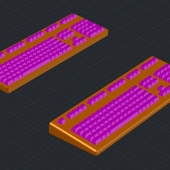 claviers.png Download free STL file Keyboard (scale 1/35) • 3D print template, _Jeff_