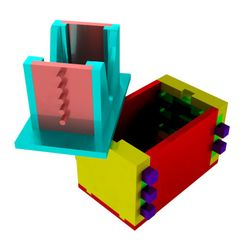 Combined_Opened.jpg Download free STL file Combination Puzzle Box • 3D print template, mtairymd