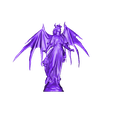 AngelicDemonStatue.stl Download free STL file Winged Angelic Demon Statue • 3D print template, CharlieVet