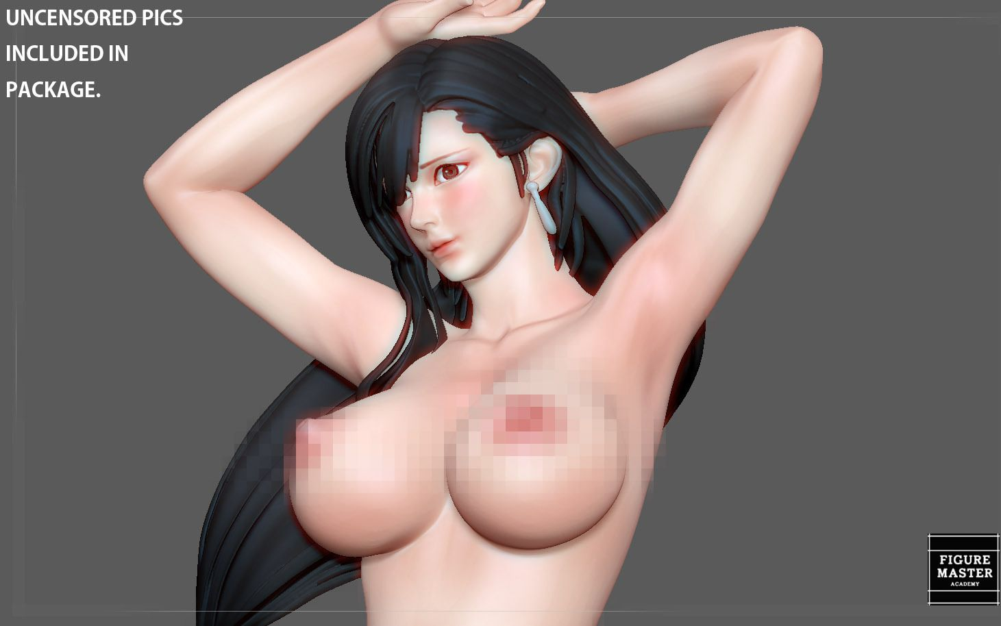 4.jpg Télécharger fichier STL TIFA SEXY NAUGHTY NAKED HENTAI VERSION FINAL FANTASY CHARACTER ANIME STATUE 3D MODEL • Objet pour impression 3D, figuremasteracademy