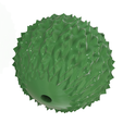 massage-ball-02 v1-01.png Download STL file Manual acupressure Massage Ball Pain Relief Therapy and Relax with handle 3d print cnc • 3D printing design, Dzusto