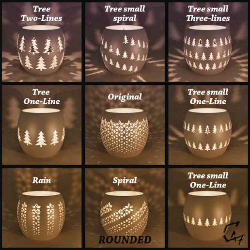 Candle covers_2.jpg Download STL file Candle / Tealight Covers Set • 3D printing model, c47