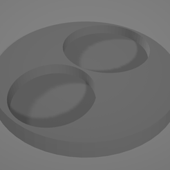 60mm-Base-with-25mm-32mm-Inserts.png Download STL file 60mm Base with 25mm + 32mm Inserts • 3D print template, FilmBoy84
