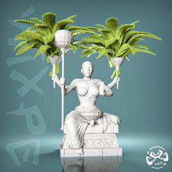 Lady-Statue-low-Poly-by-yiixpe.jpg Télécharger fichier STL Lady Statue Low Poly • Design imprimable en 3D, yiixpe