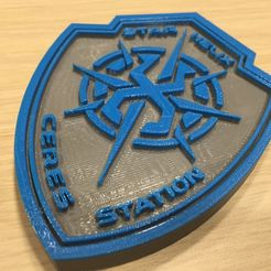 IMG_3183_display_large.JPG Download free OBJ file The Expanse - Star Helix Security Logo • 3D printable model, SYFY