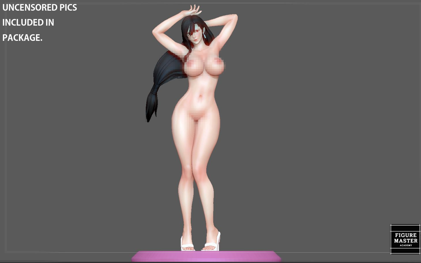 1.jpg Télécharger fichier STL TIFA SEXY NAUGHTY NAKED HENTAI VERSION FINAL FANTASY CHARACTER ANIME STATUE 3D MODEL • Objet pour impression 3D, figuremasteracademy