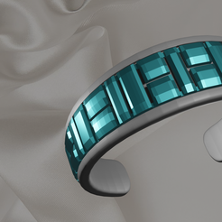 bracelet.png Download free STL file Gem stone jewelry collection • 3D printable design, o4saken
