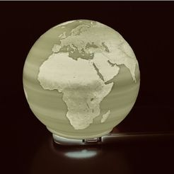 b1e684257d12f35ef8178c3bf9387705_preview_featured.jpeg Télécharger fichier STL gratuit Spherical Lithophane - Carte du monde 12cm remix 12cm • Plan imprimable en 3D, Domi1988