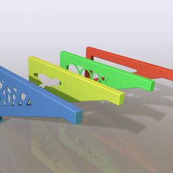 render2.JPG Download STL file Brackets collection For Shelf • Object to 3D print, anlosay