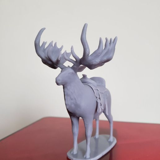 Elk.jpg Download STL file Giant Elk / Irish Elk Miniature (with and without base) • Template to 3D print, ethansweitzer