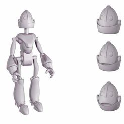 20150304__3d.jpg Download free STL file Robot head • 3D printing template, Shira