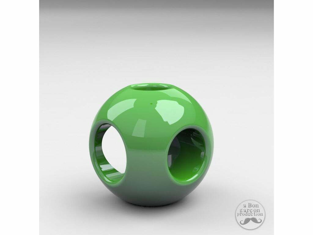 CandleBall-02_kopie.jpg Download free STL file Candle Ball for various sizes candles • 3D printable model, BonGarcon