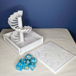 1611674416513.jpeg Download free STL file Spiral dice tower box • 3D print template, aclugston519
