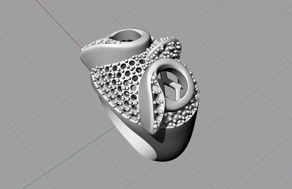 Screenshot_6.jpg Download free STL file Owl ring jewelry ring with stones 3D print model • 3D printable template, Cadagency