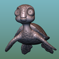 """container_turtle-sea-turtle-cartoon-3d-printing-166051.png Download free OBJ file TURTLE """"SEA FINDING NEMO MOVIE SQUIRT"""" • 3D printer model, soriana3320"""