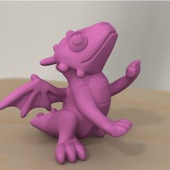 80ea3a769e4eced28cbd2d5675731035_preview_featured.jpg Download free STL file rearing cute dragon • 3D printer object, bs3