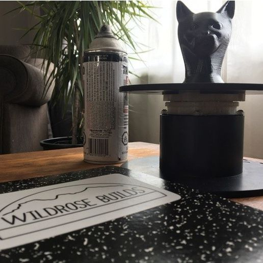9e4d06f8489bf26806477b9f1b3362e9_preview_featured.JPG Download free STL file Filament Spool Spray Paint Turntable! • 3D print template, wildrosebuilds