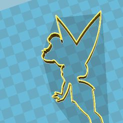 tinki.jpg Download STL file tinkerbell cookie cutter • 3D printing object, fedeluy