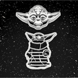 yoda.png Download STL file Pack x12 Cookie cutters Star Wars • 3D printable template, 3dokinfo