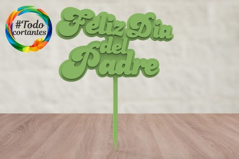 untitled.17.jpg Download STL file father's day cake topper • 3D printing template, juanchininaiara