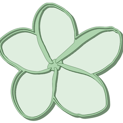 F1_70_e.png Download STL file Flower 1 cookie cutter 50mm / 70mm • 3D printable design, osval74