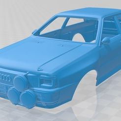 Audi-Quattro-A2-1981-1.jpg Download STL file Audi Quattro A2 1981 Printable Body Car • 3D printing model, hora80