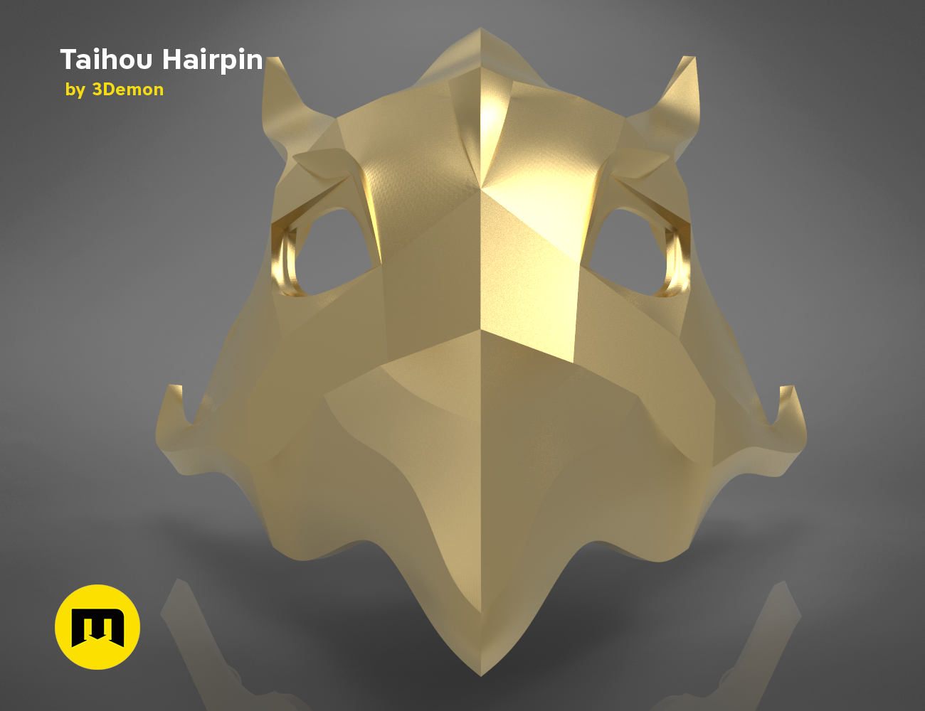 taihou_hairpin_front.188.png Download STL file Horquilla de Taihou - Carril Azur • Object to 3D print, 3D-mon
