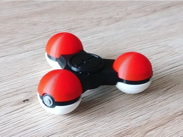 f3ccdd27d2000e3f9255a7e3e2c48800_preview_featured.jpg Download free STL file PokeSpinner - The Pokeball Fidget Spinner • 3D printer object, DanielJosvai