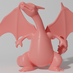 charizard 2 1.png Download STL file CHARIZARD STANDING (PART OF THE CHARIZARDPACK, AND CHAREVOPACK, READ DESCRIPTION) • Model to 3D print, ShadowBons