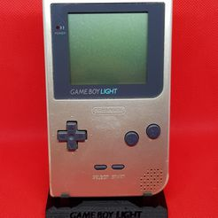 GBL Hollow2.jpg Download STL file Game Boy Light with hollow words Stand • 3D print template, azraele100877