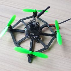 e47497386df29085b130491d490bc2e0_display_large.jpg Download free STL file MicroDrone 2s 3D printed Frame • 3D printer template, lmbcruz
