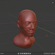 Capture.PNG Download free STL file Bust of a Man • 3D printing template, Piggie