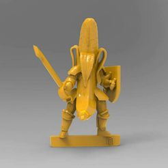 BKv3e.JPG Download free STL file 28mm - Banana Knight v2 - Redux ! • Design to 3D print, BigMrTong