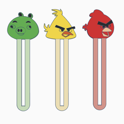 bookmark.png Download STL file Bookmark angrybirds! • Model to 3D print, serial_print3r