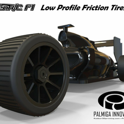 F1_low-profile_friction.png Download free STL file Low Profile Friction Tires for OpenR/C F1 car • 3D printable model, Palmiga