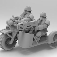 e91fc3e45bb6047f84f74aef1ee39a57_display_large.jpg Download free STL file Death corps bike with sidecar • 3D printer template, KarnageKing
