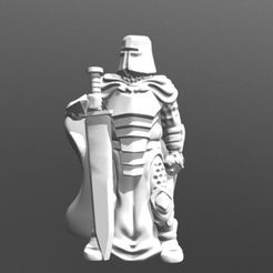 2221ec1df120d149fb0f279692488040_preview_featured.jpg Descargar archivo STL gratis Knight w / Greatsword (28 mm / escala heroica) • Diseño para la impresora 3D, Dutchmogul